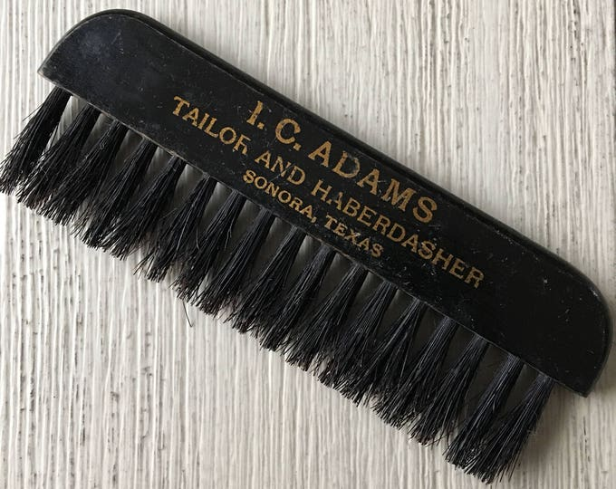Antique Advertising Clothes Brush Adams Tailor Haberdasher Sonora TX