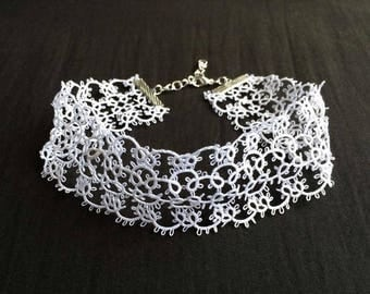 White Lace Choker Necklace - White lace, white choker, lace choker, lace wedding, lace necklace, wedding jewelry, tatted lace