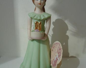 Enesco Growing Up Girl, 11, Birthday girl, vintage