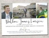 LDS Missionary, Missionary farewell invitation, Sister, Elder, Missionary Farewell, PRINTABLE (3 Photo Missionary Farewell invite)