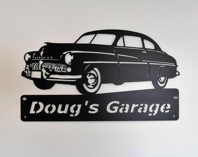 1949 Mercury  Personalized Man Cave Garage Sign Satin Black