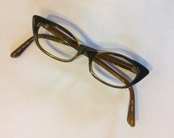 1950's 60's Art Craft Cat Eye Glasses NICE!