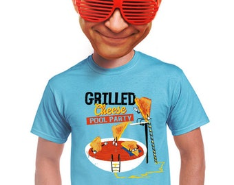 grilled cheese and tomato soup, geek, grilled cheese, food t-shirt, quirky, graphic tee, indie tee, funny foodie t-shirt, gift for him, s-4x