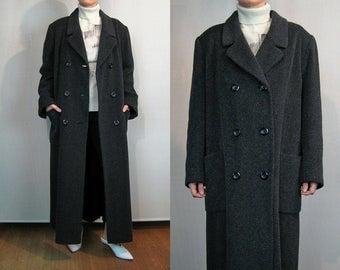 Herringbone ALPACA Wool Menswear Oversized Maxi Coat