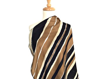 Vintage Echo Scarf - striped scarf - brown scarf - fashion scarves - head scarf - fabric belt - bandana -  sash