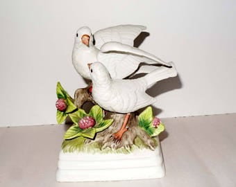 Gorham Porcelain Love Doves Music Box Plays Love Story Art and Collectibles Music Boxes