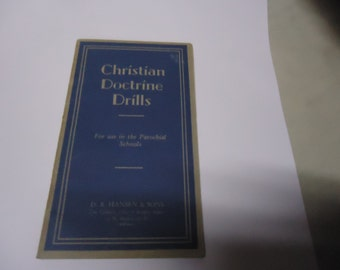 Vintage Christian Doctrine Drills Paperback Book or Brochure, D B Hanson & Sons, Religious collectable