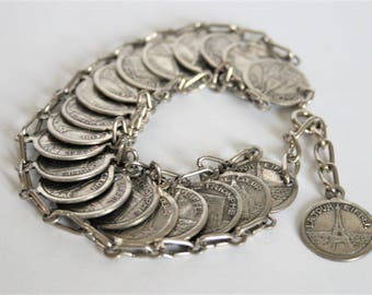 Vintage Paris bracelet.  Souvenir bracelet. French bracelet.  Vintage jewellery