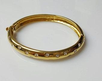 Nolan Miller Rhinestone Hinged bangle  Bracelet Wedding Ready