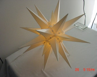 "Vintage 18"" Christmas Moravian Star - Star Of Bethlehem - In Original Box  17 - 388"