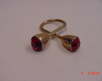 Vintage Red Rhinestone Key Holder   17 - 578