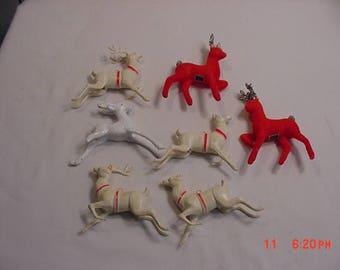 7 Vintage Christmas Reindeer Ornaments - Decorations  17 - 679