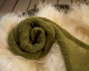 Knitted wrap - Olive