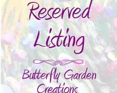 Custom Purple Carnation Bookmark