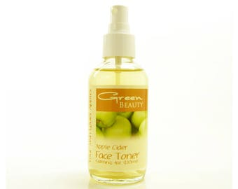 Face Toner with Apple Cider Vinegar and Marshmallow Root, 4oz, Apple Cider Toner, Calming, Soothing Face Toner, Alcohol Free Face Toner