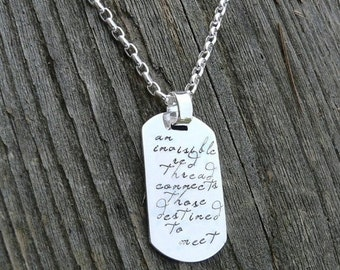 10 dollars off: Custom Thick Sterling Men's Dog Tag Adoption Necklace