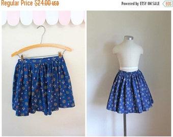 SHOP SALE vintage 1950s little girl's skirt - FOLKLORE floral full skirt / 7-8yr