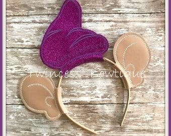 Dopey Dwarf - CUSTOM  Mouse Ears Headband Twincess Bowtique