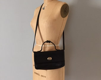 leather doctor bag | turn lock top handle messenger purse