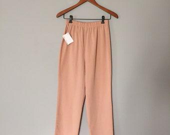 SALE...dusty rose matchstick pants | 80s skinny pants