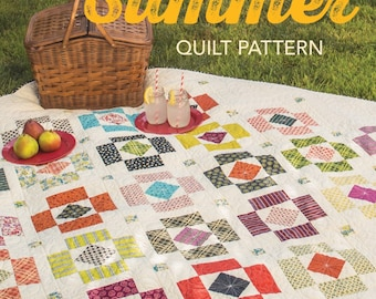 """SALE:  Quilt Pattern-Booklet -   """"Modern Indian Summer"""" - By Sherri McConnell"""