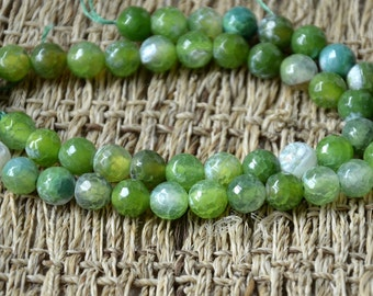 8mm Faceted Dyed agate stone nugget stone Beads, stone beads,agate stone beads loose strands