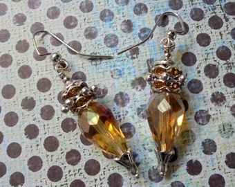 Golden Topaz Earrings (3228)