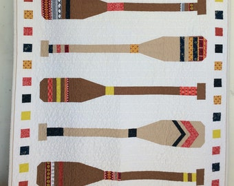 Lake House VIntage Paddle Quilt  by Dream Vintage Sheets