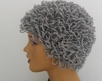 Medium gray color Cabbage Patch wig,Halloween costume,Cabbage patch costume, crochet cabbage patch hat,Halloween costume pageant Hair
