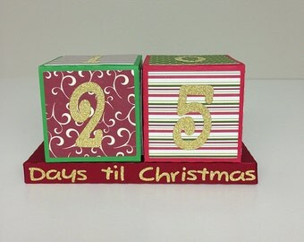 Christmas Countdown Blocks SVG