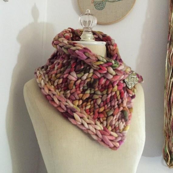 Knitting Pattern / Cowl Neckwarmer Super Bulky Chunky