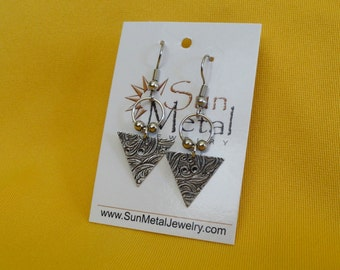 If I were you I'd wanna be me too antique silver earrings (Style #201A)
