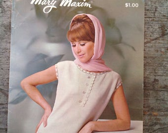 Vintage 1960's Mary Maxim Yarn Knitting Pattern Book Volume 26