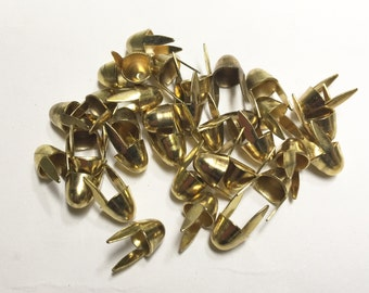 100 Accessory Hardware Gold Metal Studs - 1/4""