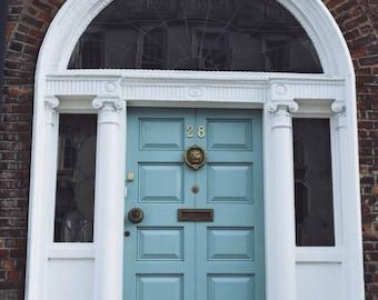 Ireland-Dublin-Doors of Dublin-Turquoise Door- Fine Art Photography