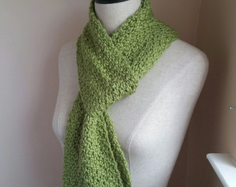 Green Apple Elegance Scarf - Organic Cotton