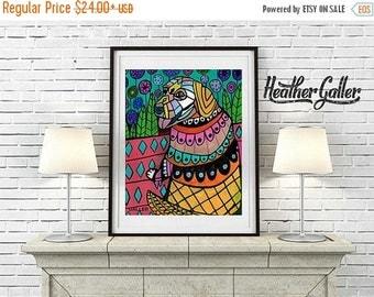 50% Off Today- Golden Retriever art poster painting print heather galler   Dog (HG486)