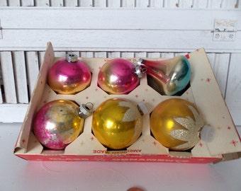 Vintage Antique Glass Christmas Ornaments Shiny Brite 0063
