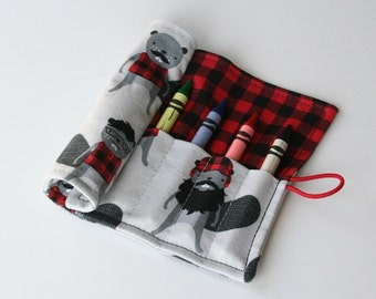 Crayon Caddy Roll Up - Jack (8 Crayons Included) - Ready to Ship!