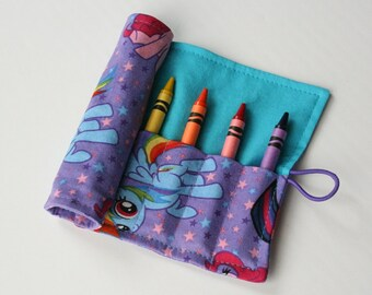 Crayon Caddy Roll Up - Friendship is Magic (8 Crayons Included) - Ready to Ship!