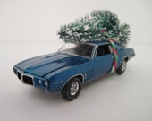 1969 PONTIAC FIREBIRD - CHRISTMAS Ornament, Christmas Village Decoration - Christmas Tree Tied to Top