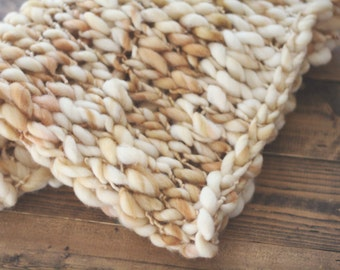 Merino Wool Mini Blanket/Basket Stuffer - Beach Sands - Photography Prop