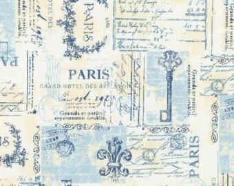 Robert Kaufman City of Lights Dusty Blue Paris Fabric - 1 yard