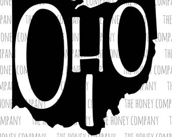 Ohio SVG PNG DXF State Outline Instant Download Silhouette Cricut Cut Files Cutting Machine
