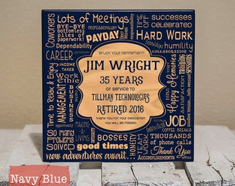 Personalized Retirement Collage - Retirement Gifts - Retirement Gifts for Men - Retirement Gifts for Women - Retirement Sign - Wood Engraved
