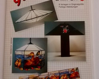 OOP 1989 GlasDesign 'Lamps 1' Stained Glass Patterns - Amazing 3D lampshade designs!