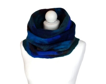 Infinity scarf, multicolor #02, winter circle scarf