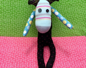 OOAK zoe recycled stuffed animal