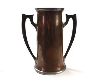 Antique Reed & Barton Trophy Cup 2 Handle Copper and Pewter Tankard No. 512