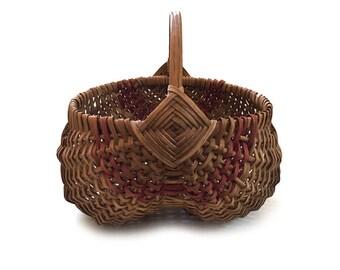 God's Eye Buttocks Basket Egg Melon Gizzard Basket Primitive Splint Farm Farmhouse Decor - Two Color Basket